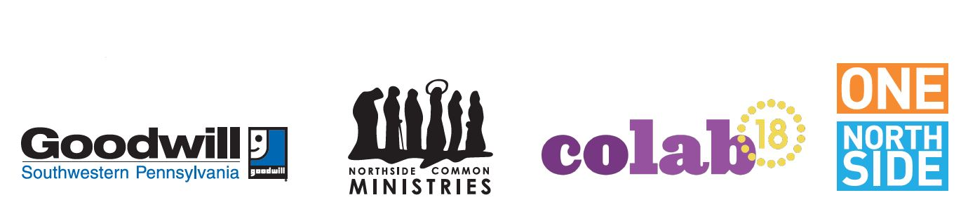 logos of northside common minisitry, colab18 and goodwill